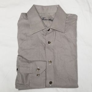 ❇️3/$10 NWT Tasso Elba Macys Dress Shirt Small